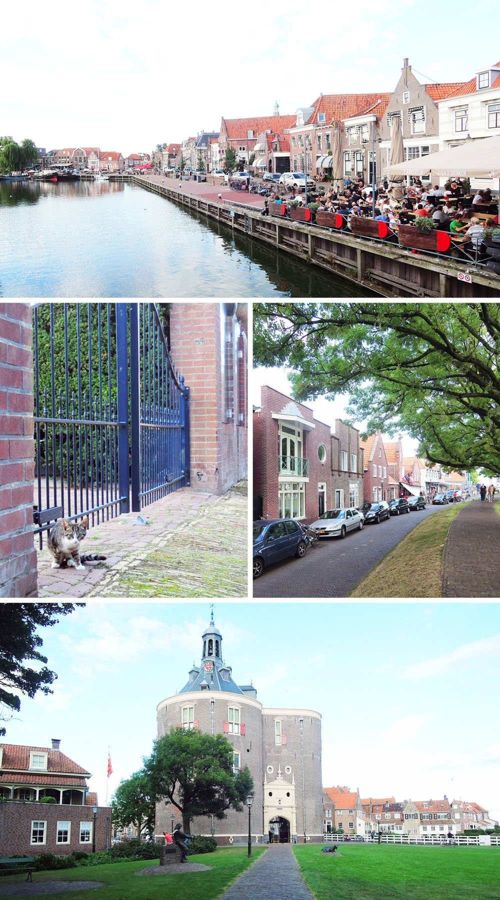 Enkhuizen in Flevoland is a historic, picturesque town set by the sea. It's a great stopover on your drive from Amsterdam to Giethoorn.