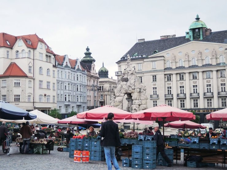 The Cabbage Market Square, or Zelny trh in local language, is one of the oldest squares in Brno. Since the 13th century, it has been the center of daily life in the city. Underneath lies a labyrinth of cellars that have been pivotal to daily market life throughout the centuries.