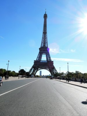 Sunny day in Paris, France