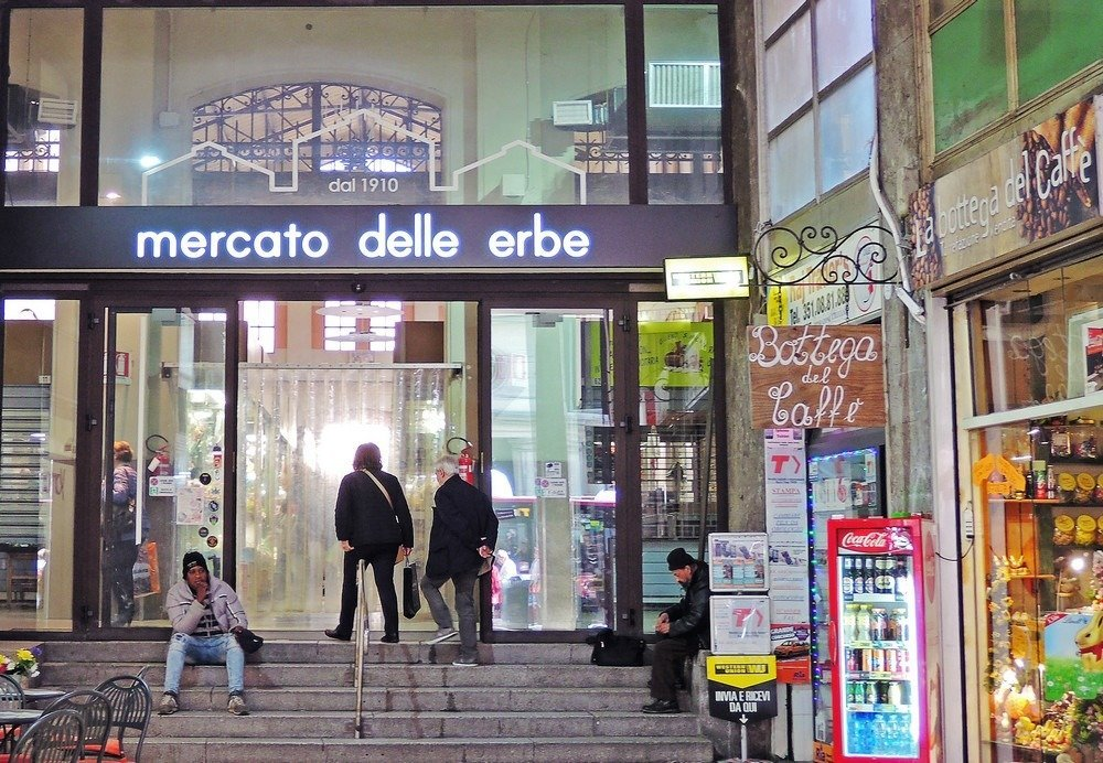 Mercato delle Erbe in Bologna, Italy is a great place to buy pasta, cheese, and meats for bringing home.