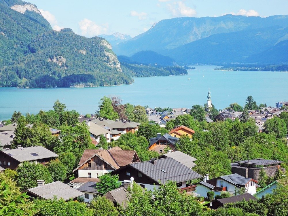 One of the best reasons to do a road trip from Vienna to Salzburg is to pass through the beautiful Salzkammergut region. You'll get to stop by lovely lakeside towns like St. Gilgen.