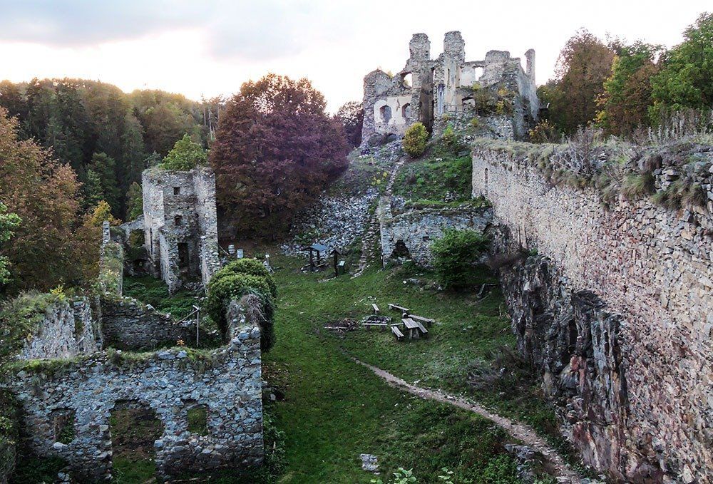 Visit and explore the ruins of Dívčí kámen, a Gothic castle built in the 1300s.
