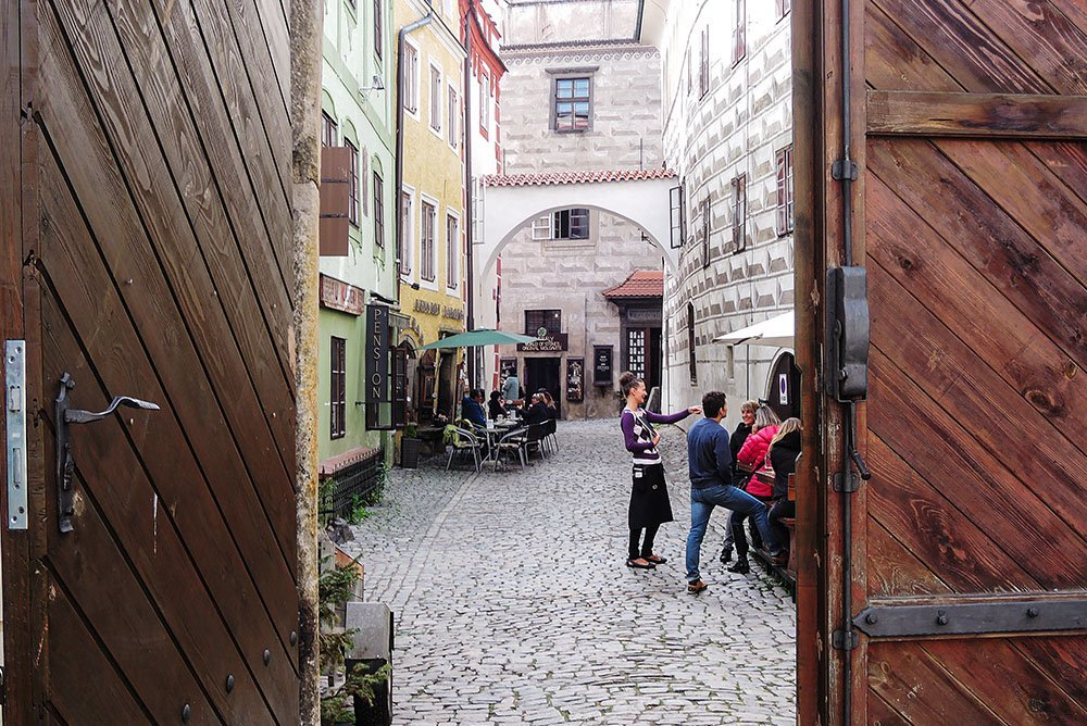 After seeing Český Krumlov's must-see sights, make sure to take some time to get cozy in a pub or sample the local products. Walk into less-trafficked side streets and explore!