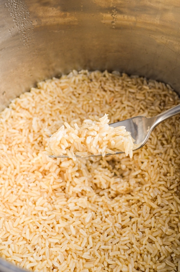 After trying what feels like a billion Instant Pot Brown Rice recipes, I found the perfect method that gives great results every time! No more soggy, puffy brown rice!