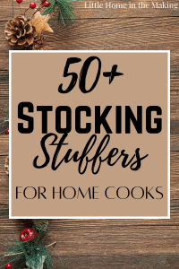 Do you have a special someone in your life who can't stay out of the kitchen? Check out this list of 50+ Stocking Stuffer Ideas for People Who Love to Cook!