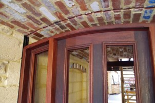 Space for arched glass to highlight the brick vault
