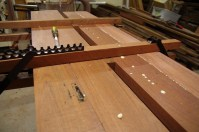 Timber laminated and clamped