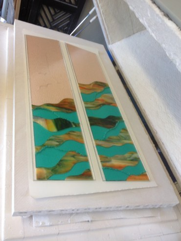 In the kiln ready for 'fusion'