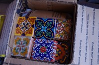 It was pretty exciting to receive this box of tiles all the way from an artisan tile maker in Mexico