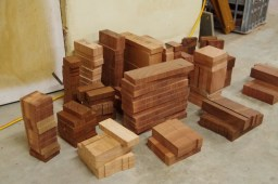 Sliced up timber ready to go