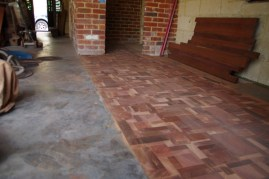 All the timber laid and sanded
