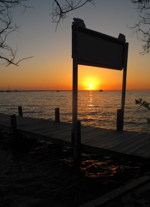 Sunset from Pineapples Dock