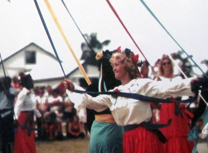 A centuries-old tradition, plaiting the Maypole