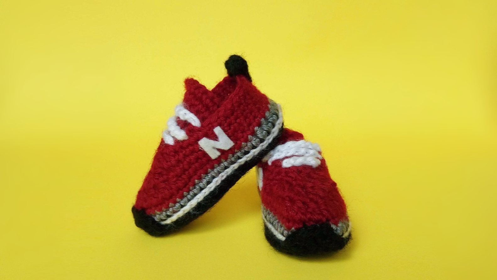 906dd3c68de Crochet Baby Sneakers Tutorial (2018) Crochet Tennis Shoes ...