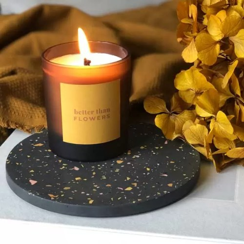 BETTER THAN FLOWERS large refillable personalised candle