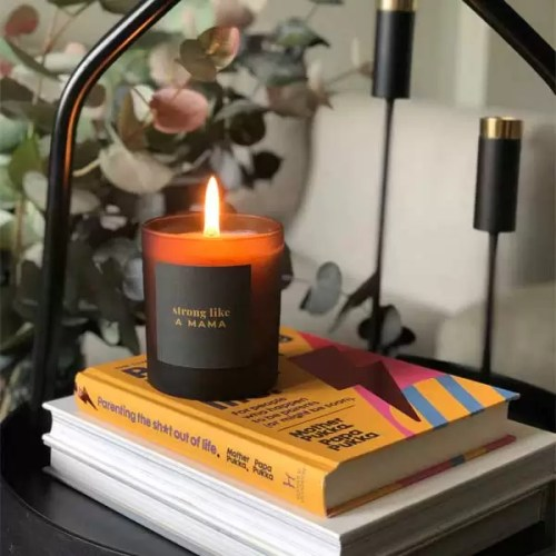 STRONG LIKE A MAMA large refillable candle. Personalised candles and gifts for any occasion