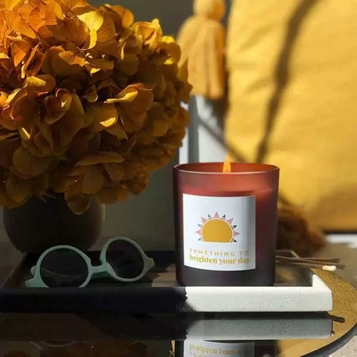 SUN design something to brighten your day personalised large candle