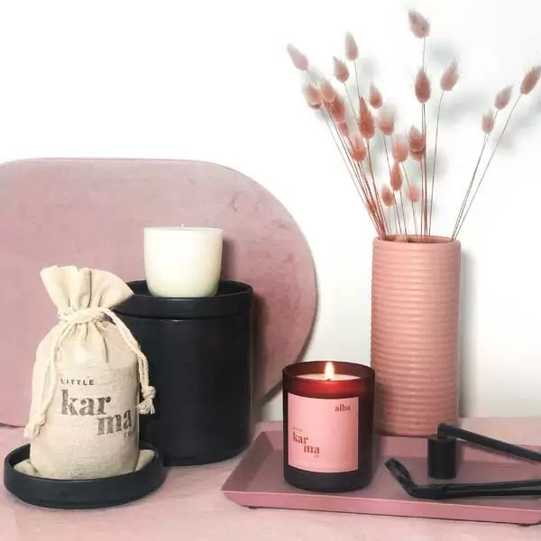 alba | balancing bergamot + rose geranium midi refillable candle [150g]