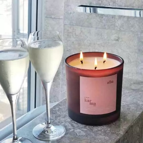alba mega refillable candle. Refill this eco friendly 3-wick candle in 3 easy steps