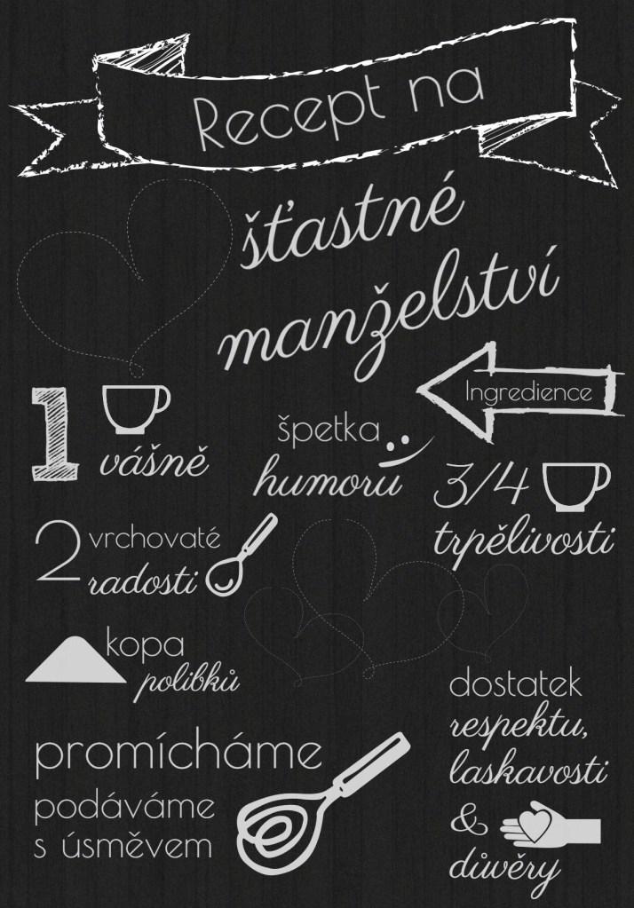 Plakát recept na šťastné manželství
