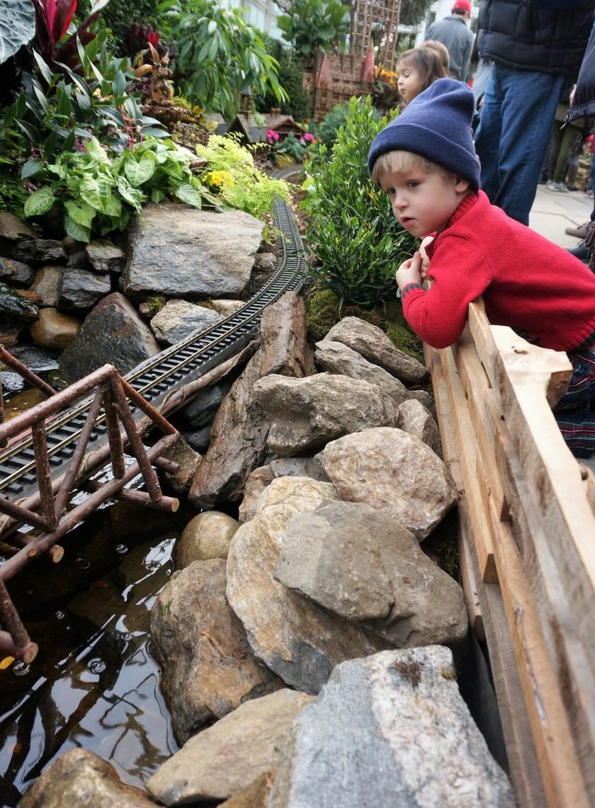 Anticipation at the New York Botanical Garden Train Show