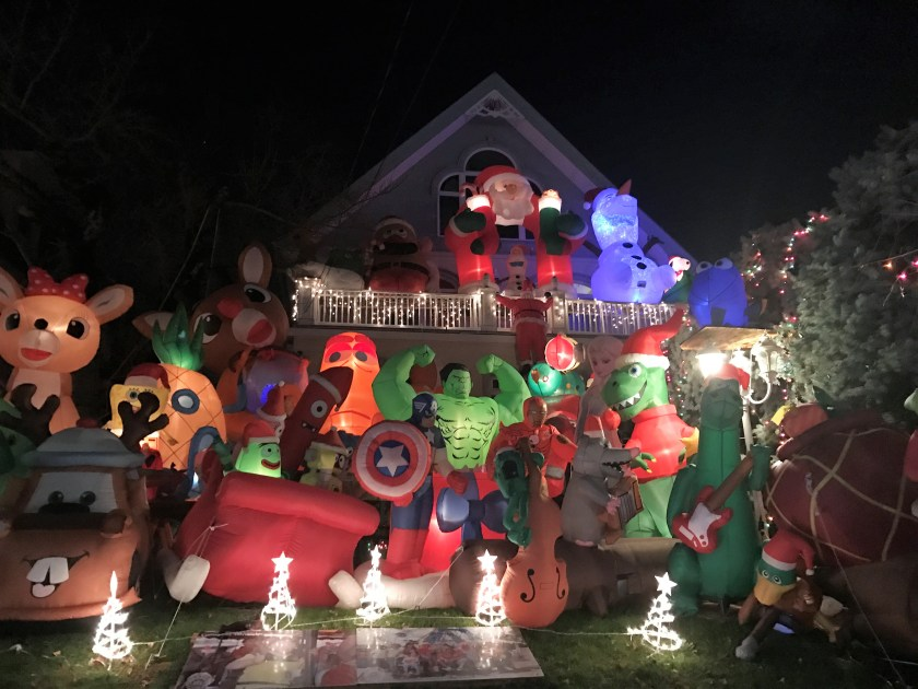 Incredible Inflatable Characters in Dyker Heights