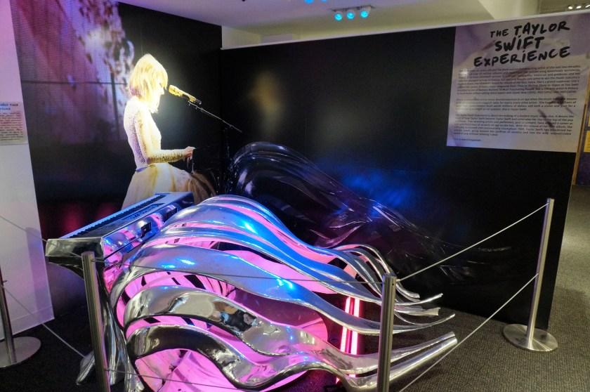 Custom piano at the Taylor Swift Experience