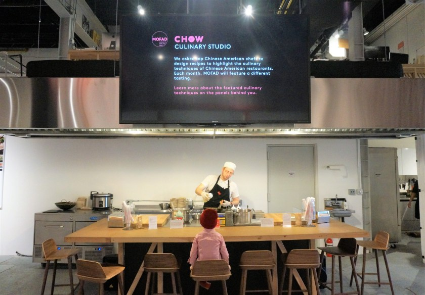 The culinary studio at CHOW exhibit at MOFAD in Williamsburg