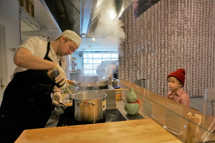 Cooking us a storm at the MOFAD