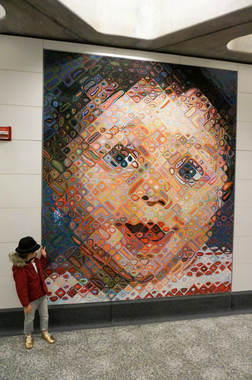 Chuck Close Subway Portraits at the Second Ave Subway Opening