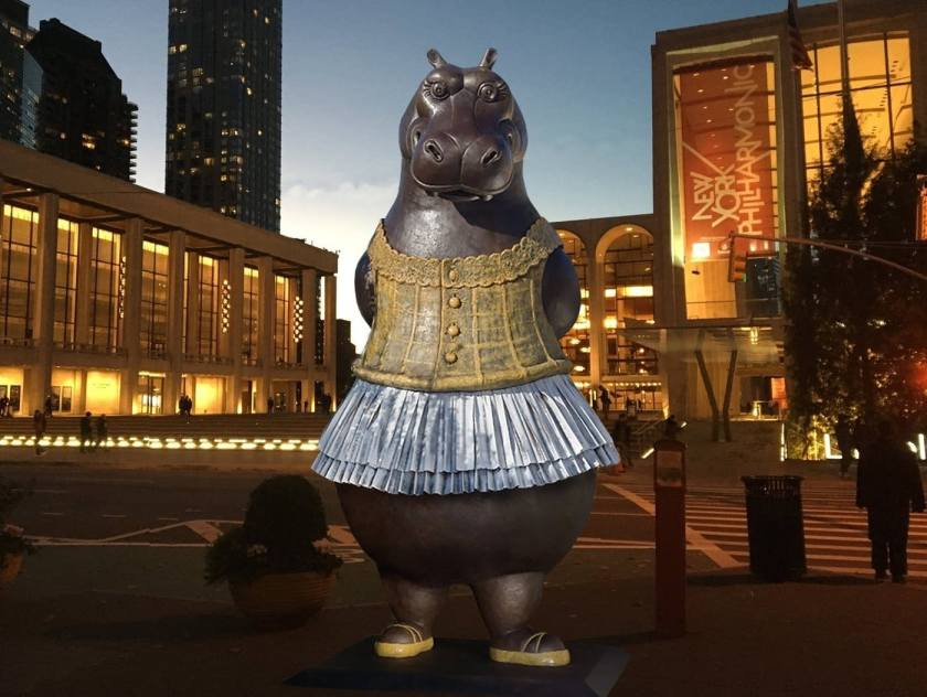 A Pretty Hip Hippo Art Statue