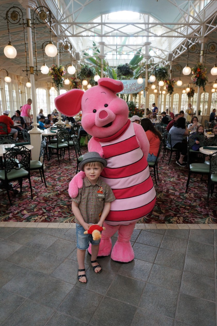 Meeting Piglet at the Crystal Palace Character Breakfast