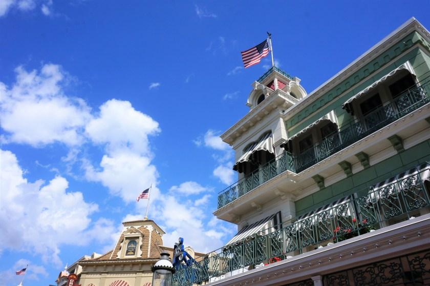 Flags at Magic Kingdom Park in Walt Disney World