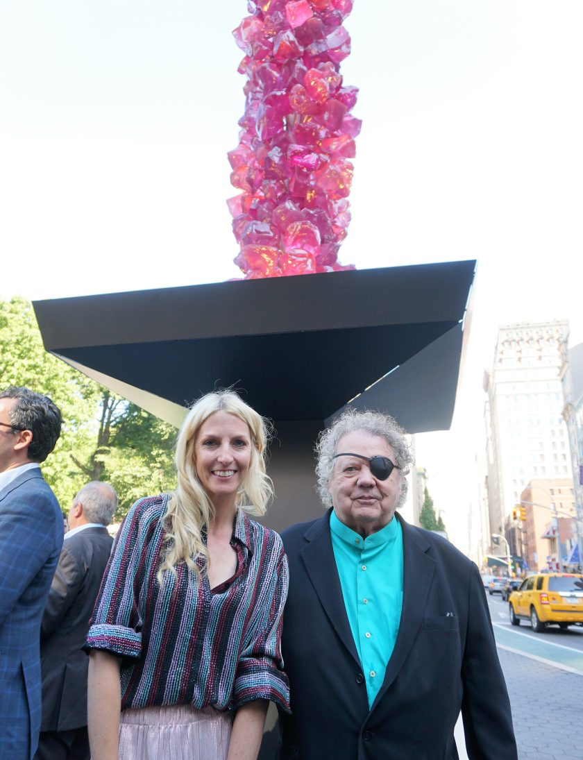 Dale Chihuly at the Union Square sculpture unveiling