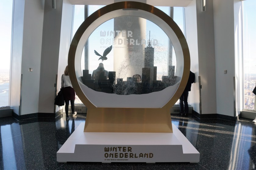 Winter ONEderland Snowglobe at One World Discovery