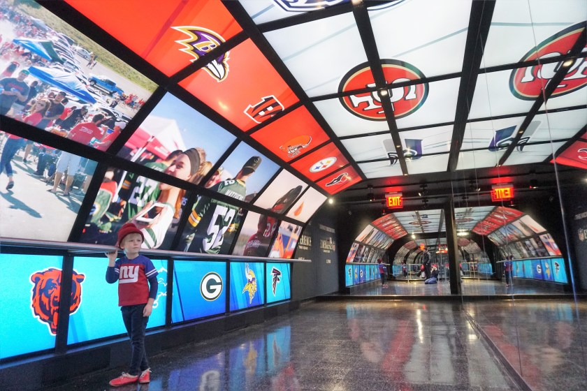 Victory Tunnel in NFL Experience at Times Square