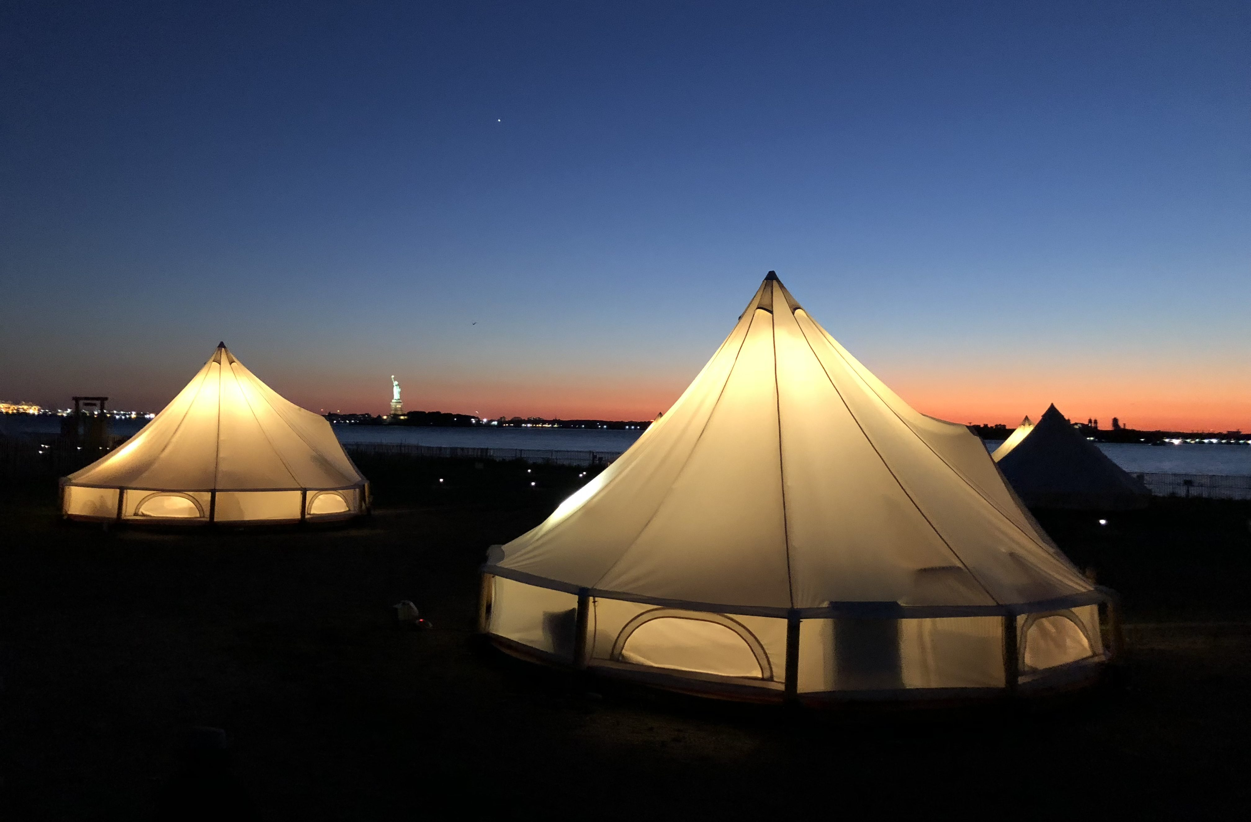 Glamping in the City - Collective Retreats Governors Island