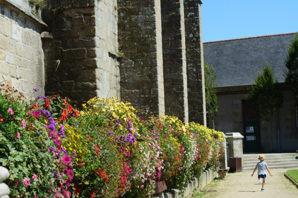 France Brittany Roscoff Our French Adventure Week one San Pol De Leon Church flowers