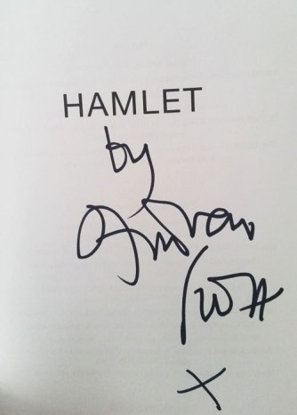 My copy of Hamlet........that Andrew Scott signed I am actually dead