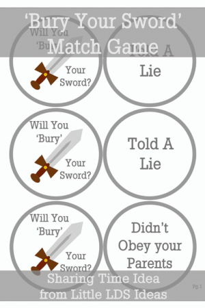 Bury Your Sword Repentance Matching Game