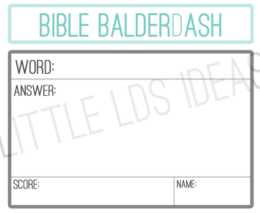 Bible-Balderdash-Answer-She