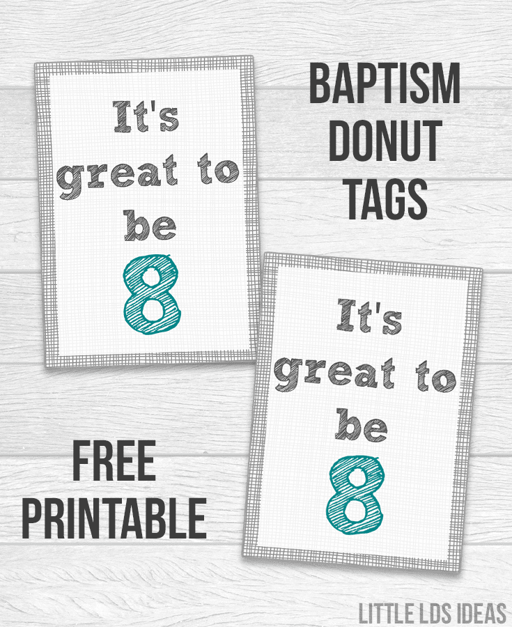 It's Great to Be Eight Donut Tags