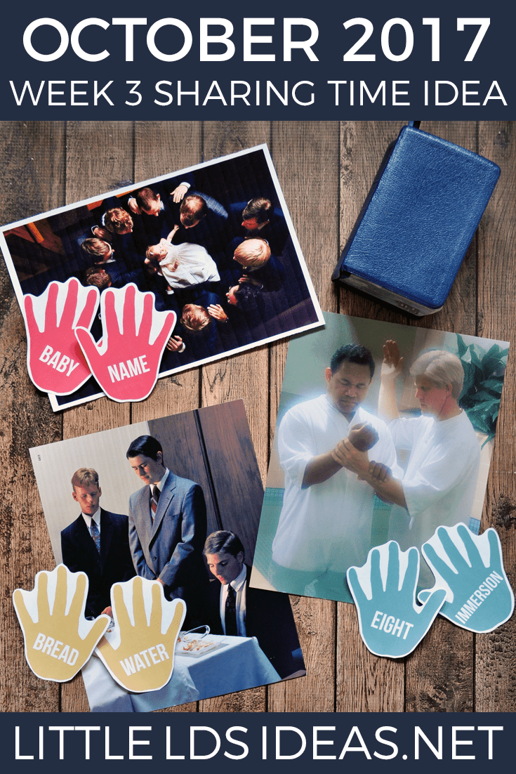 Priesthood Hands Sharing Time Activity