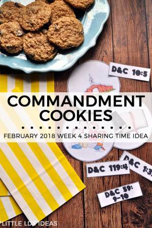 Commandment Sharing Time Idea