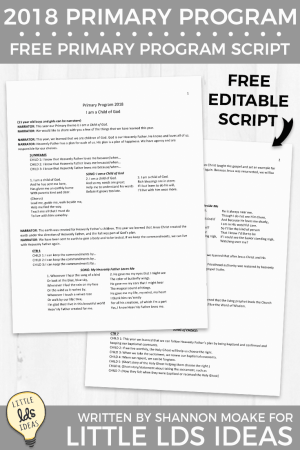 2018 Primary Program Script