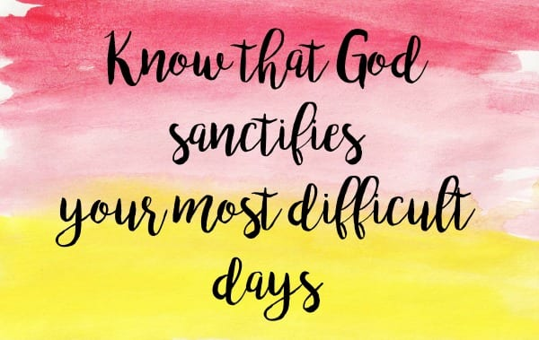 Ministering Card Sanctifies Difficult Days