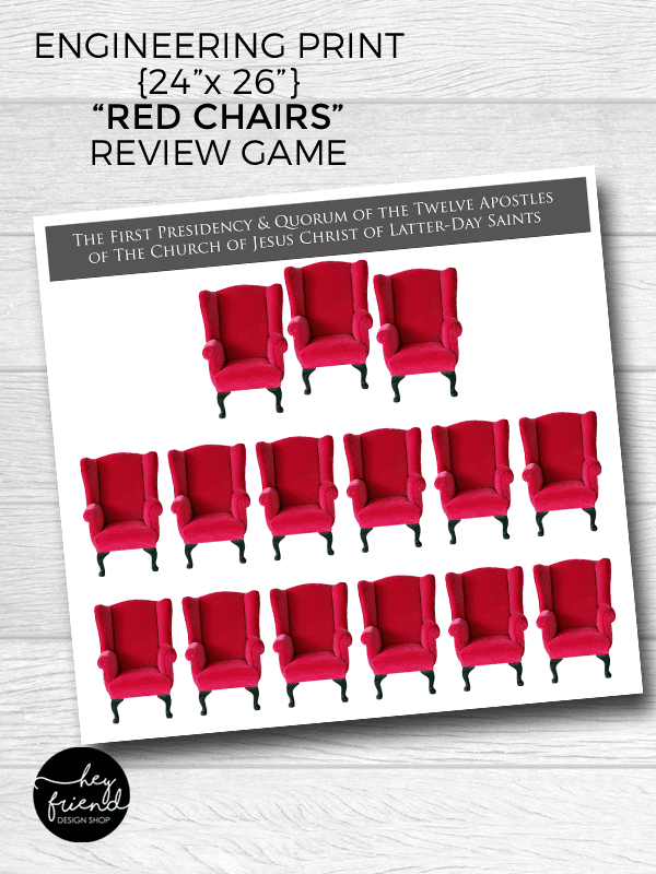 "LDS ""Red Chair"" General Conference Review Game"