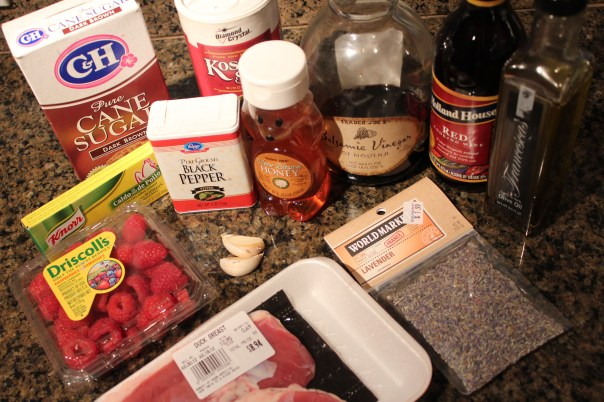 Ingredients, Duck, Breast, List, Seasonings, Spices, Lavendar, Kosher Salt,