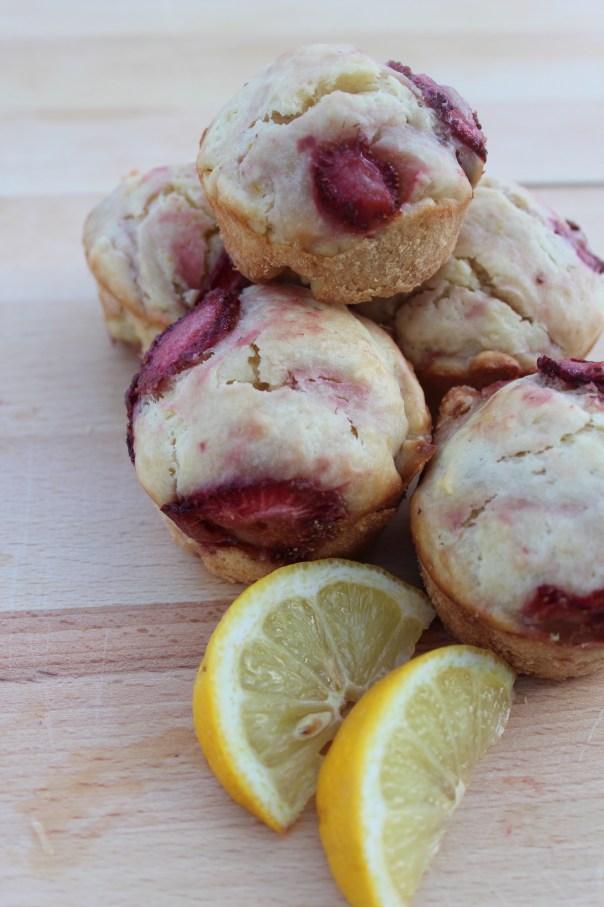 Lemon, Strawberry, Muffins, Recipe, Breakfast, Brunch, Food, Fruit