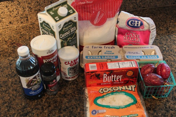 passionfruit, poppy seeds, muffins, coconut, recipe, vanilla, coconut milk, flour, sugar, eggs, butter